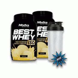 Best Whey Iso (900g) 2 unidades + Coqueteleira